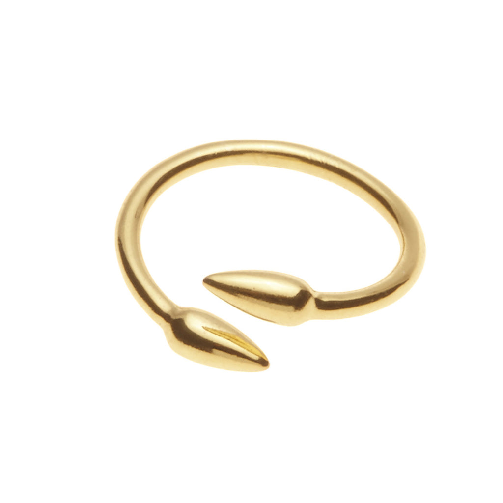 Silk & Steel Anther Ring Gold