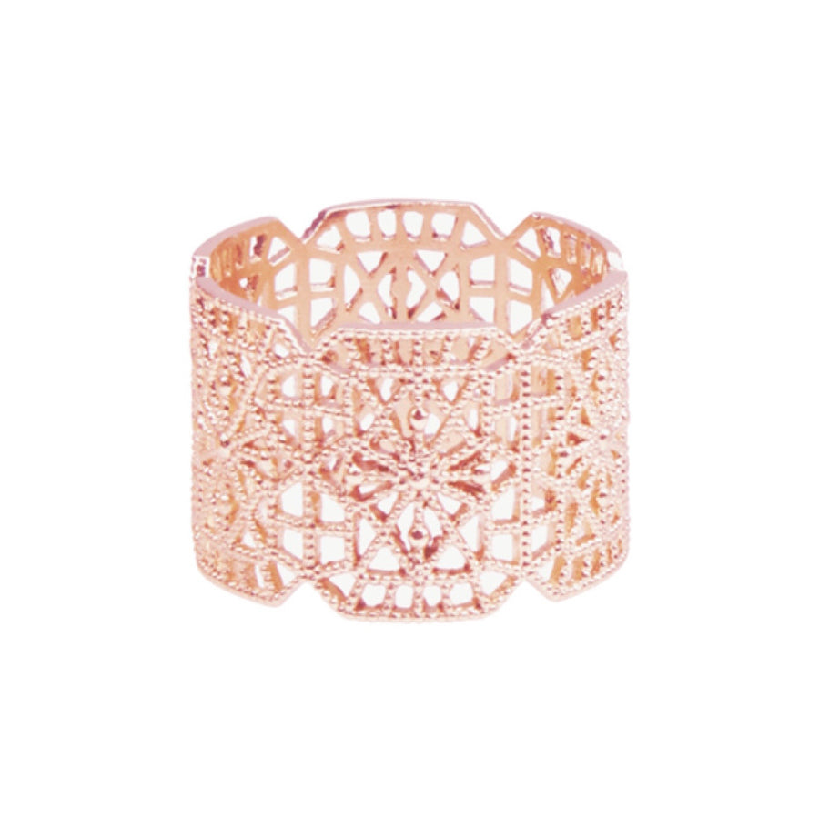 Silk&Steel - Botanic Lace Ring Rose Gold