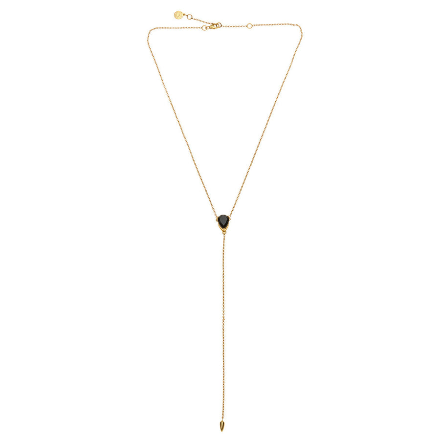 Silk&Steel D-Vine Necklace - Gold with Spinel