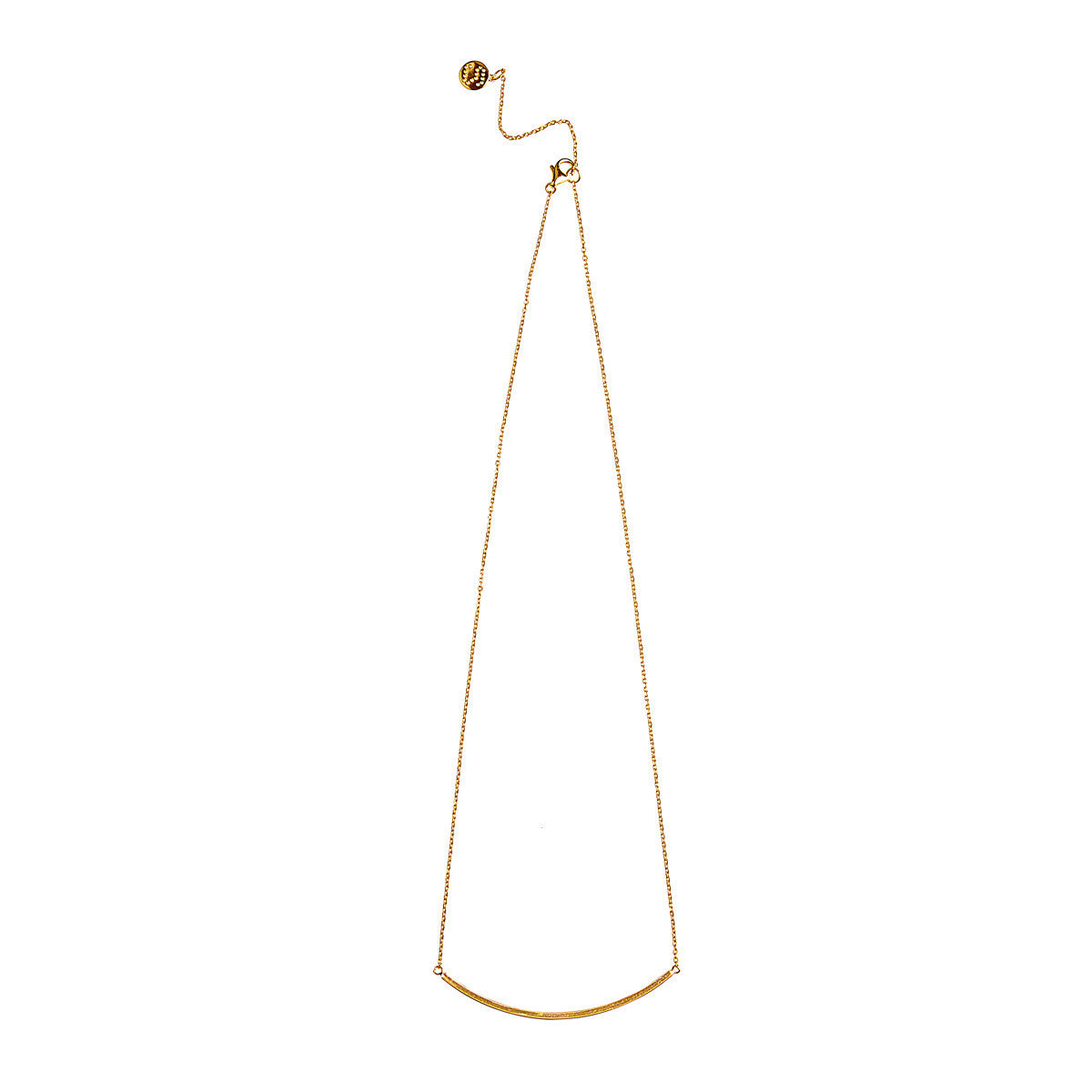 Silk&Steel Jewellery - Fine Line Gold Plated Sterling Silver Necklace