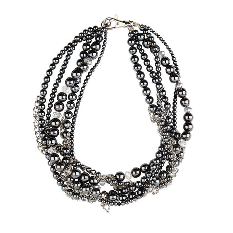 Midnight Mayhem / Gunmetal + Silver / Bespoke Necklace