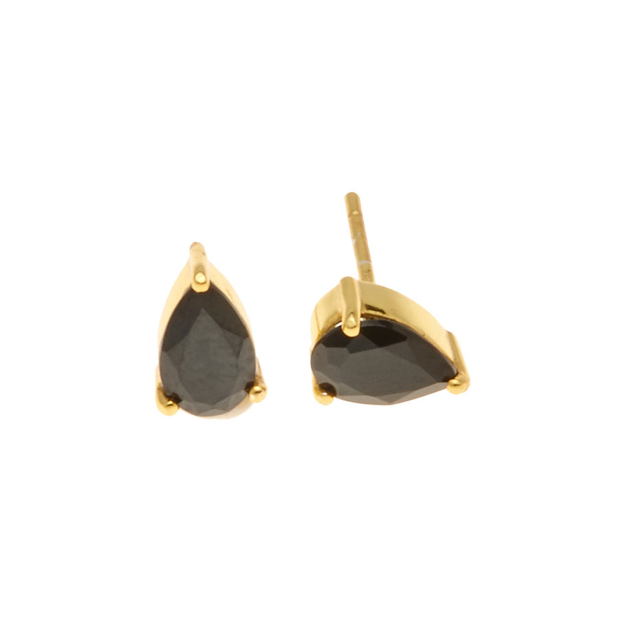 Silk&Steel Jewellery On-Point Earrings - Gold and Spinel