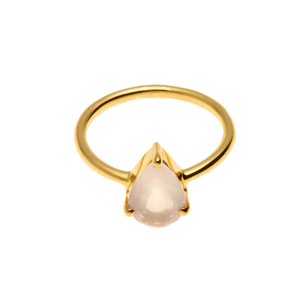Silk&Steel Jewellery On-Point Ring - Gold and Rose Quartz