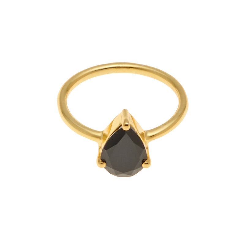 Superluxe / Ring / On Point / Gold + Black Spinel