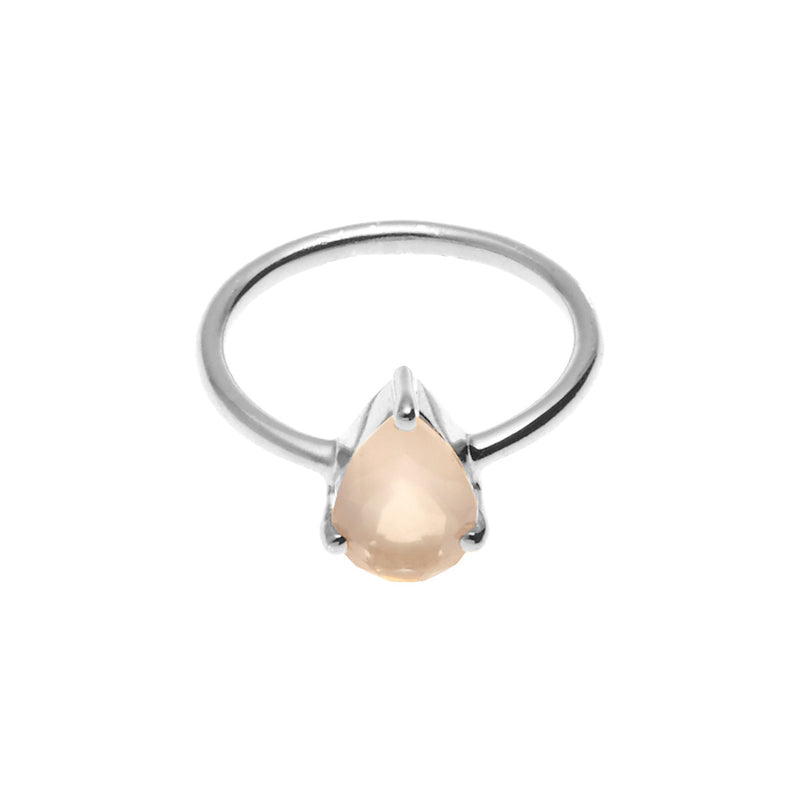 Silk&Steel Jewellery On-Point Ring - Silver and Rose Quartz