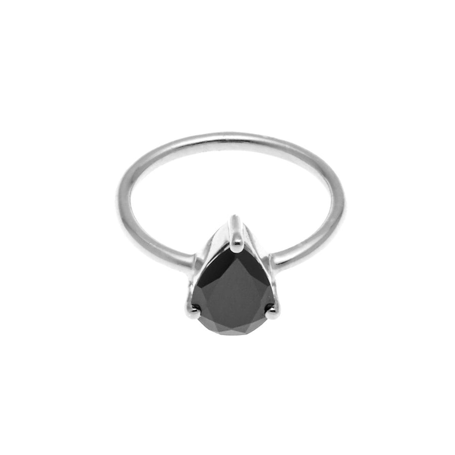 Silk&Steel Jewellery On-Point Ring - Silver and Spinel