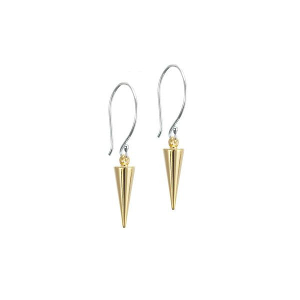 Silk & Steel Pin Point Earrings - Gold and Silver