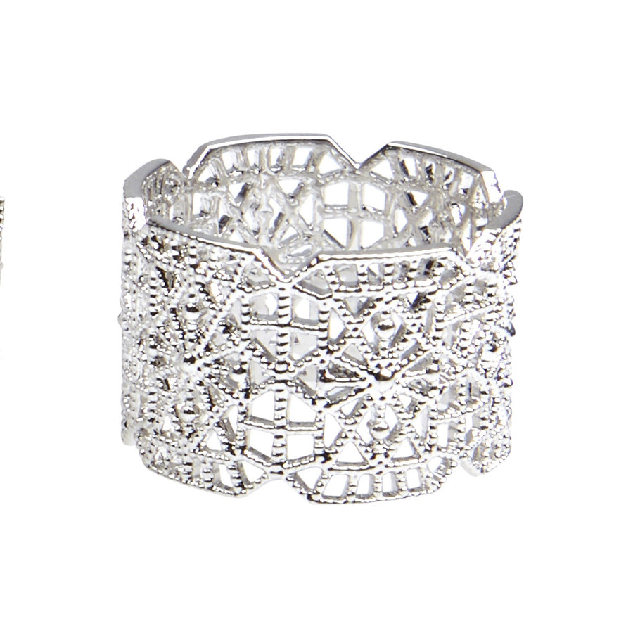 Silk&Steel Jewellery - Silver Botanic Lace Ring