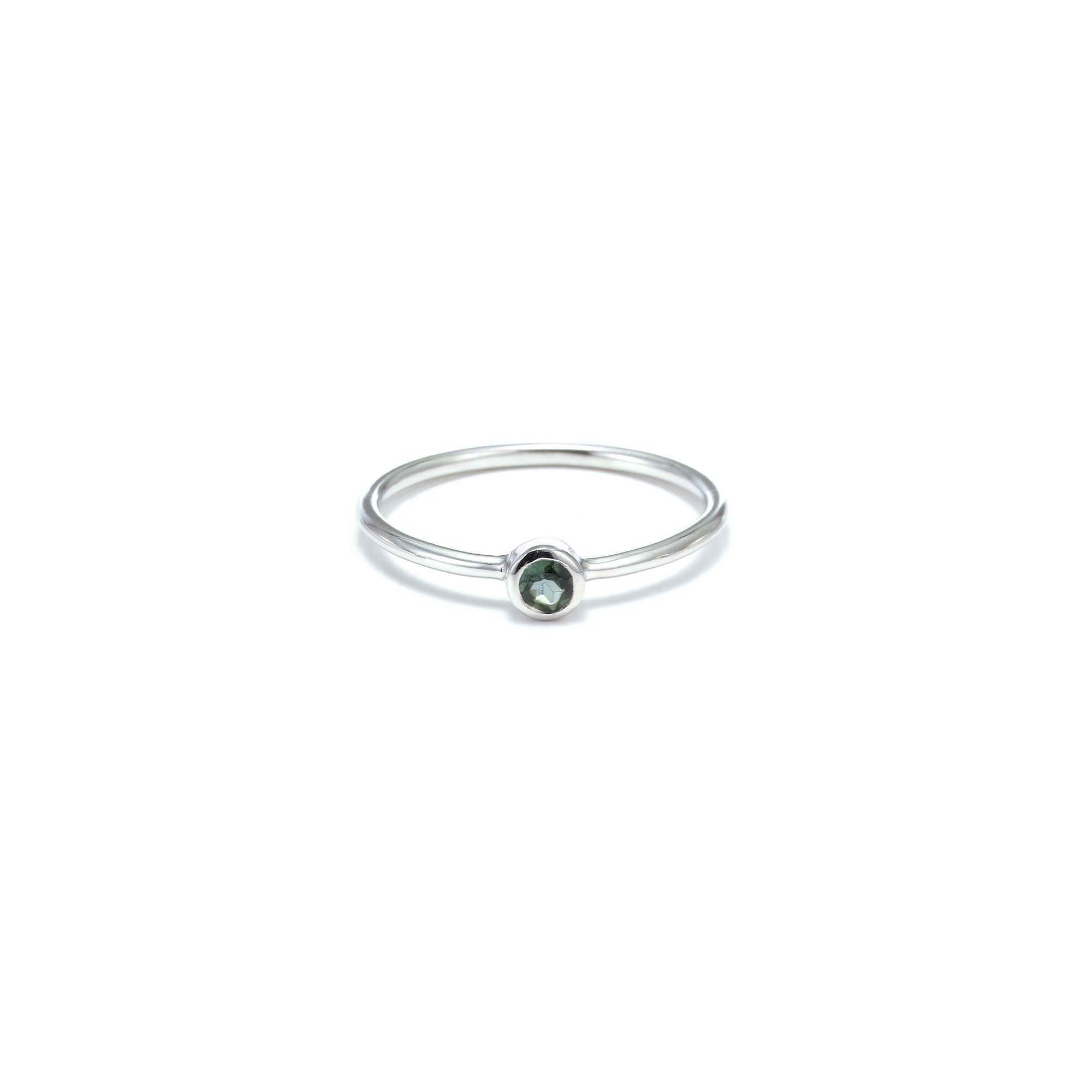 AXIS / Ring / Pistil / Silver + Green Tourmaline