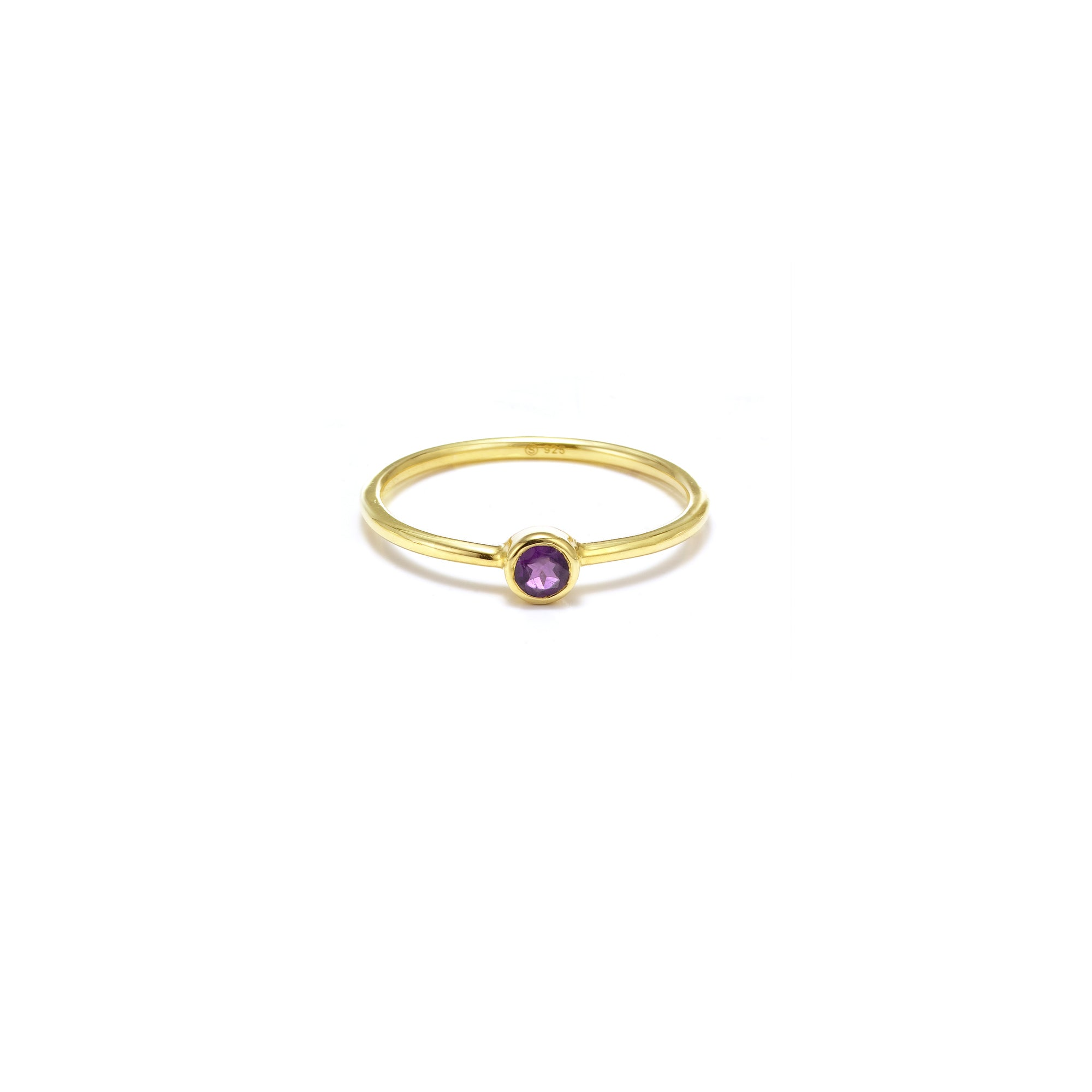 AXIS / Ring / Pistil / Gold + Amethyst