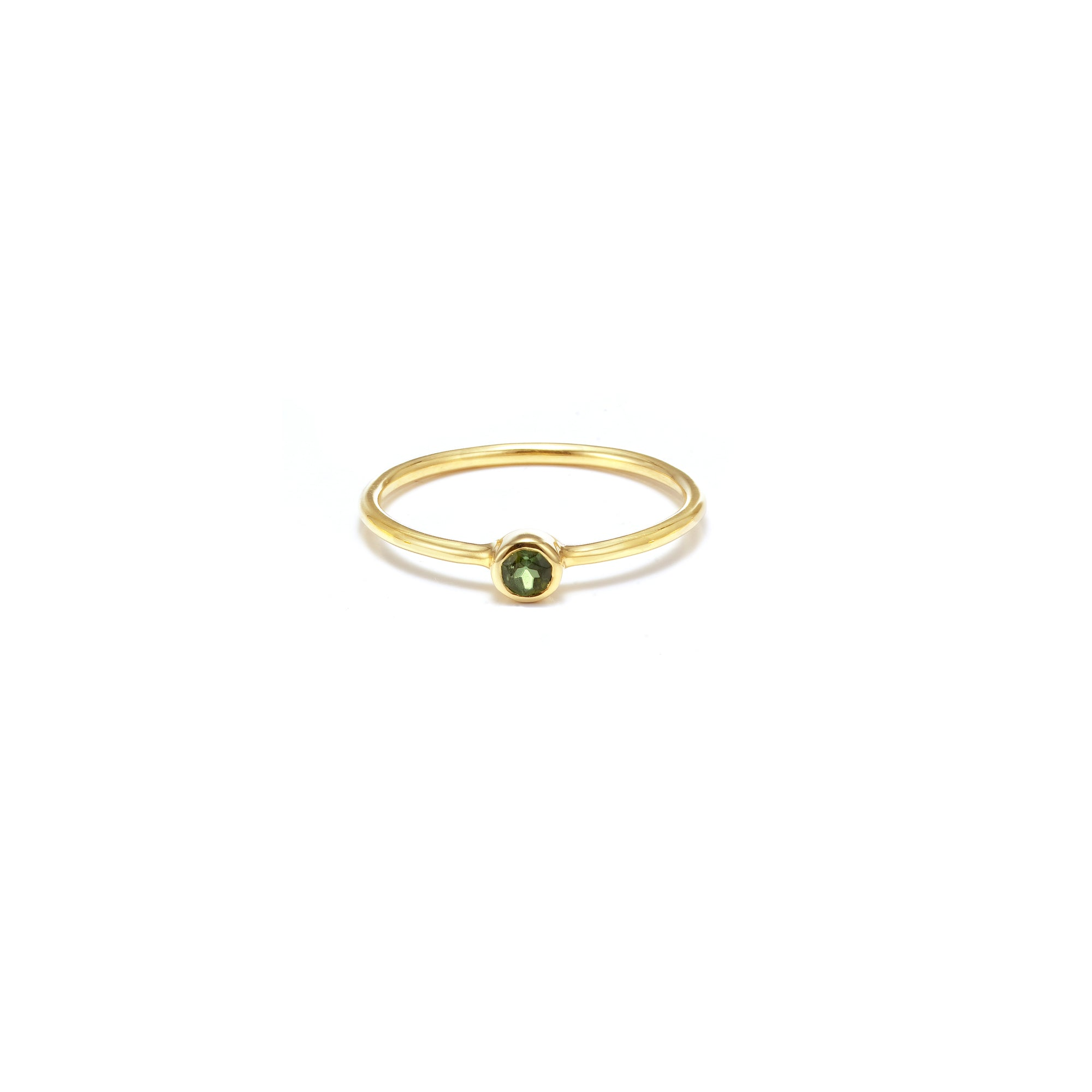 AXIS / Ring / Pistil / Gold + Green Tourmaline