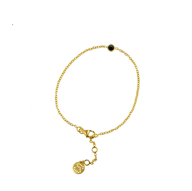 Silk & Steel Jewellery - Superluxe Thorn Bracelet Gold and Black Spinel