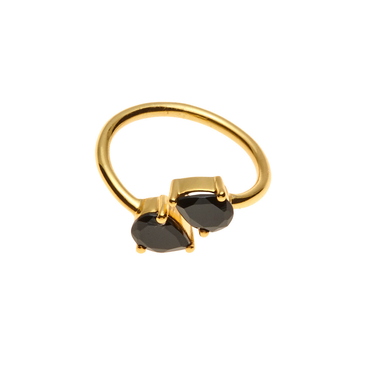 Silk & Steel Jewellery - Two the Point Ring Gold with Spinel