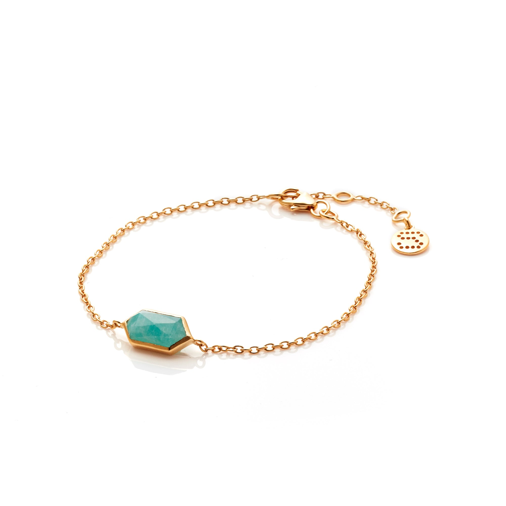 Silk&Steel Jewellery Haveli Bracelet Amazonite and Gold from Haveli Collection