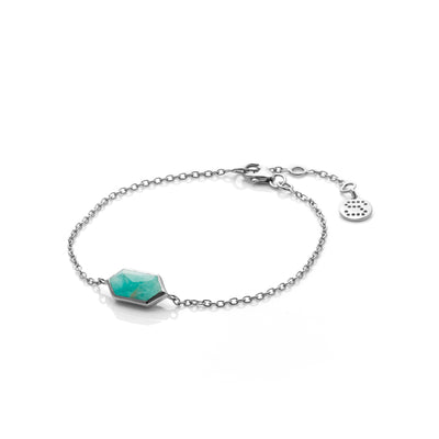 Silk&Steel Haveli Bracelet in Amazonite Silver from Haveli Collection