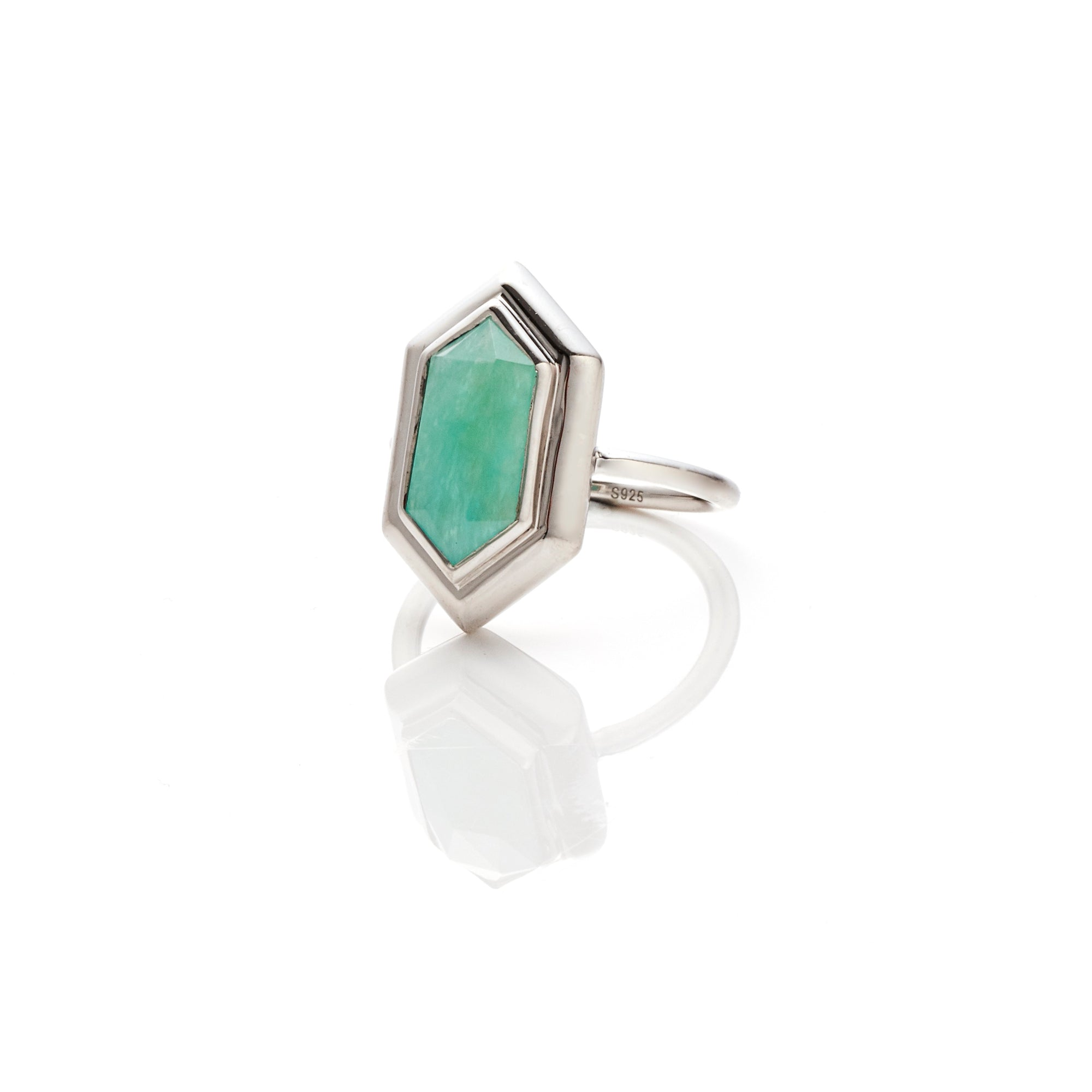 Silk&Steel Jewellery Haveli Ring Amazonite and Silver from Haveli Collection