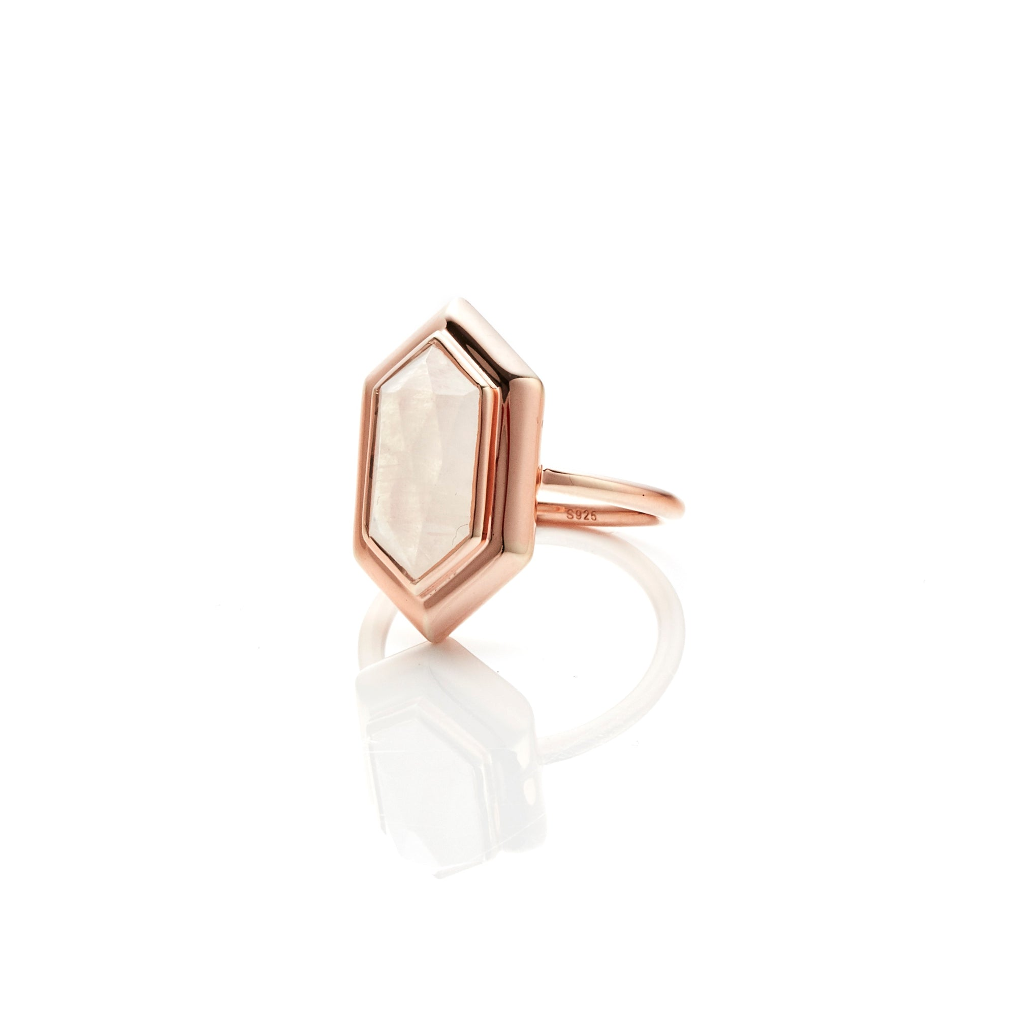 Silk&Steel Jewellery Haveli Ring Moonstone and Rose Gold from Haveli Collection