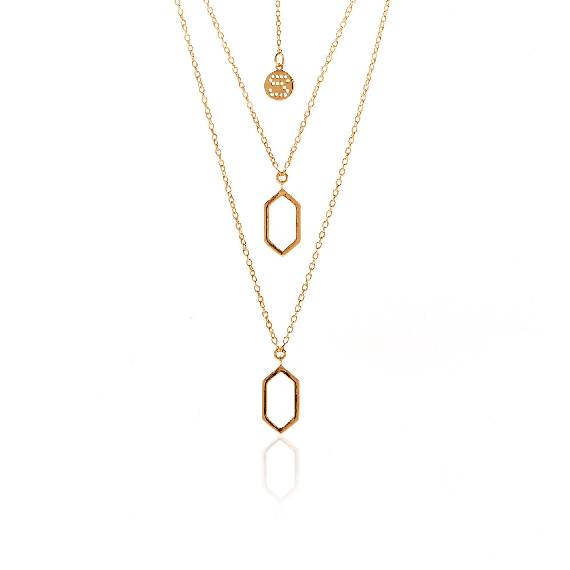 Silk&Steel Jewellery Inside Out Necklace Gold