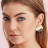 Silk & Steel Jewellery Roundabout Silver Beaten Statement Earrings