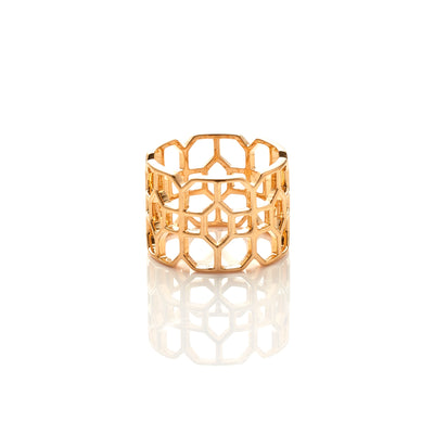 Silk&Steel Jewellery Stately Ring in Gold from Haveli Collection