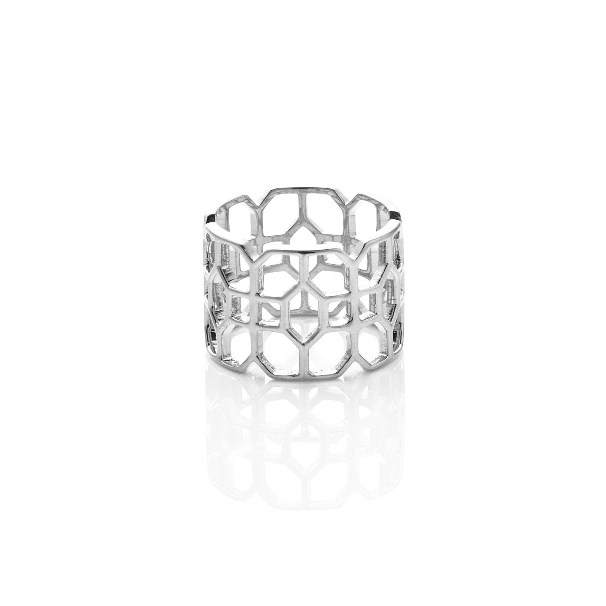 Silk&Steel Stately Silver Ring from Haveli Collection