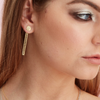 Silk & Steel Jewellery Disco Bar Gold Beaten Ear Jackets