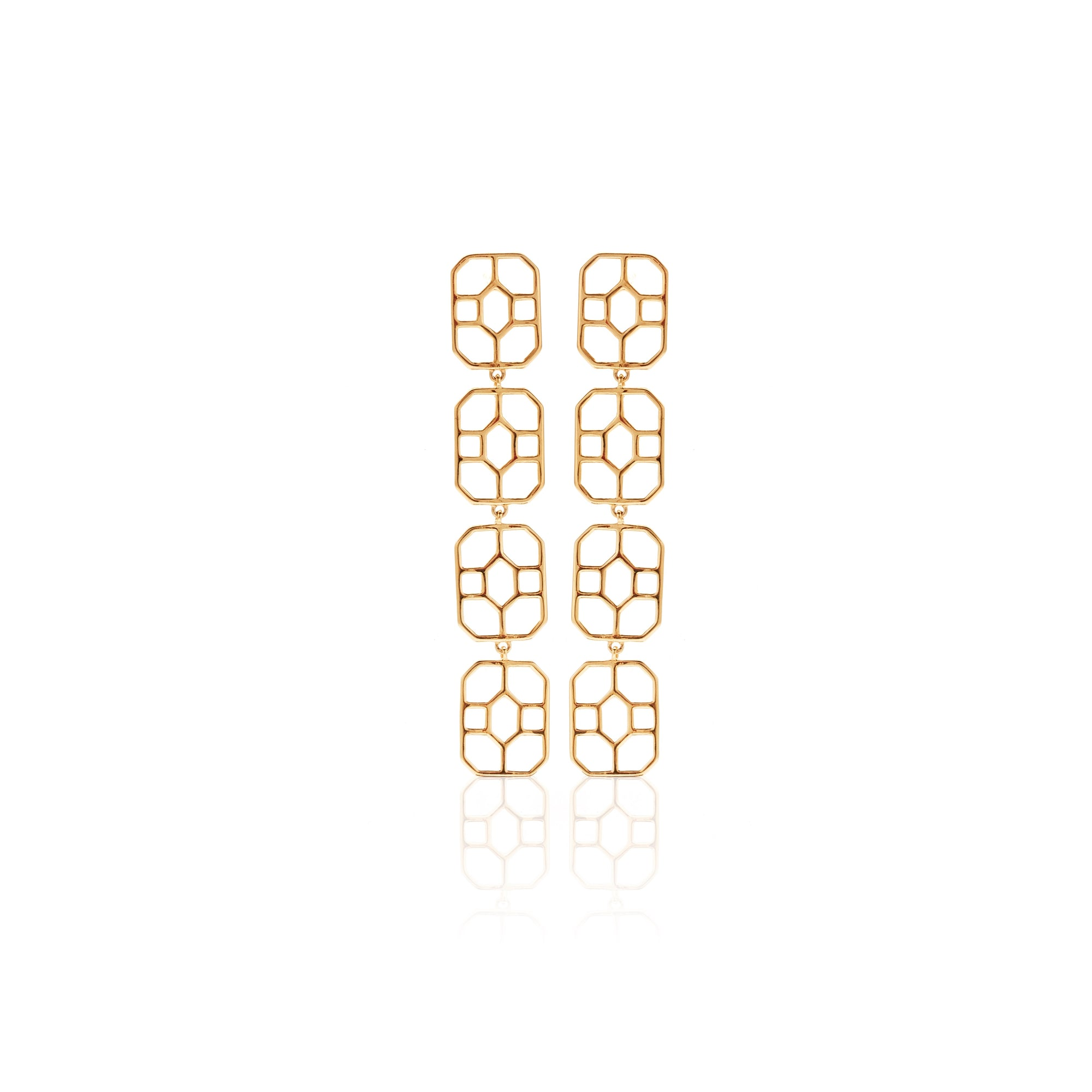 Silk & Steel Jewellery Gold Vista Earrings Haveli Collection