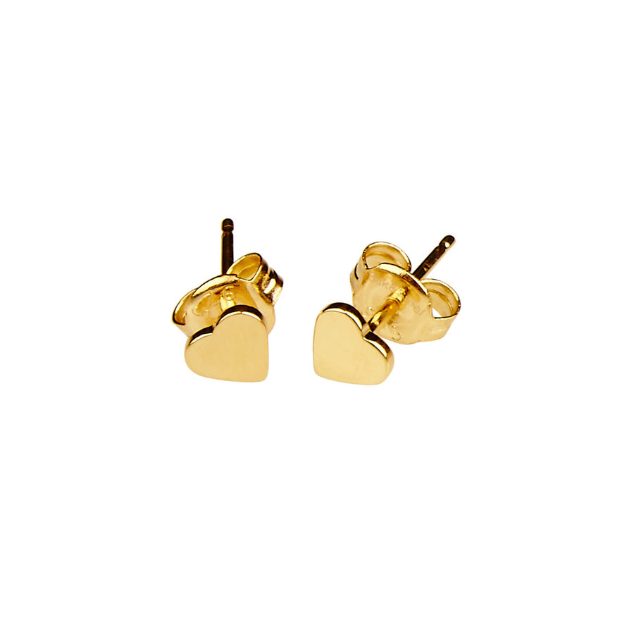 Silk&Steel Love Heart Gold Plated Sterling Silver Earrings