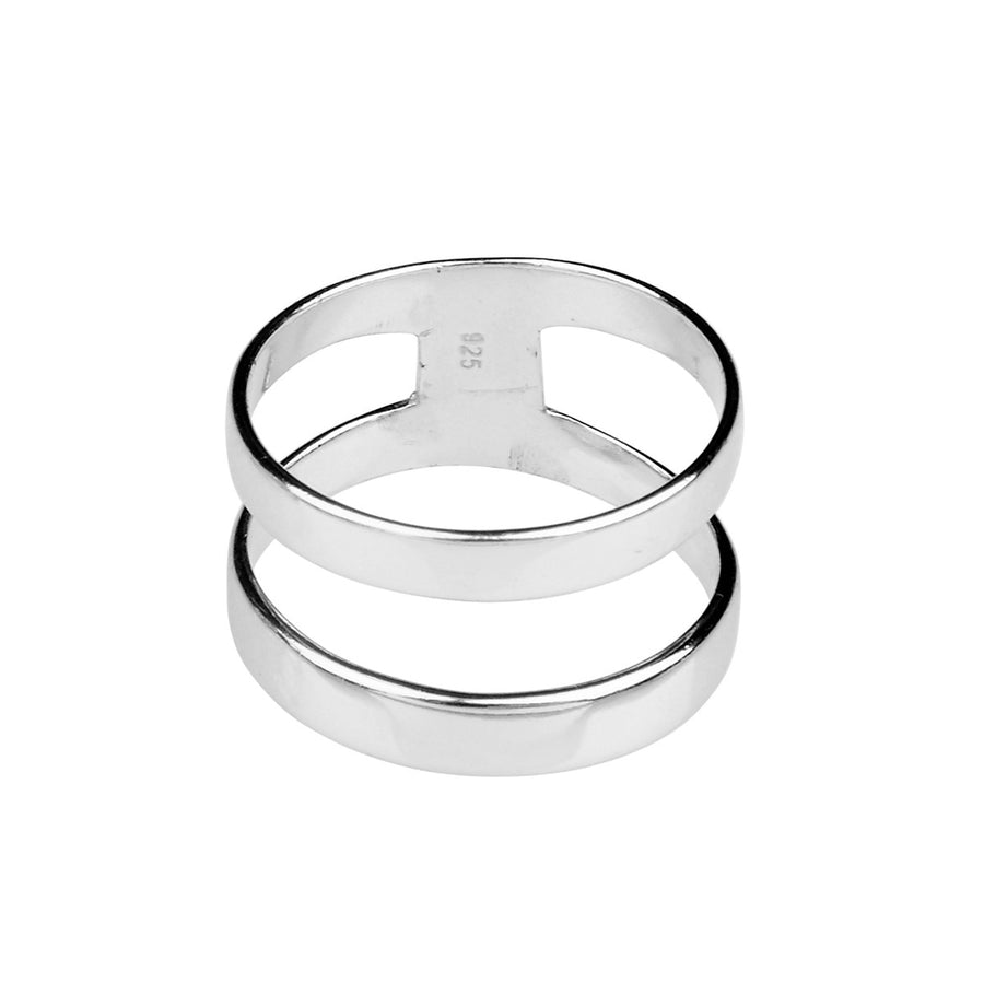 Silk & Steel Parallel Lives Sterling Silver Ring