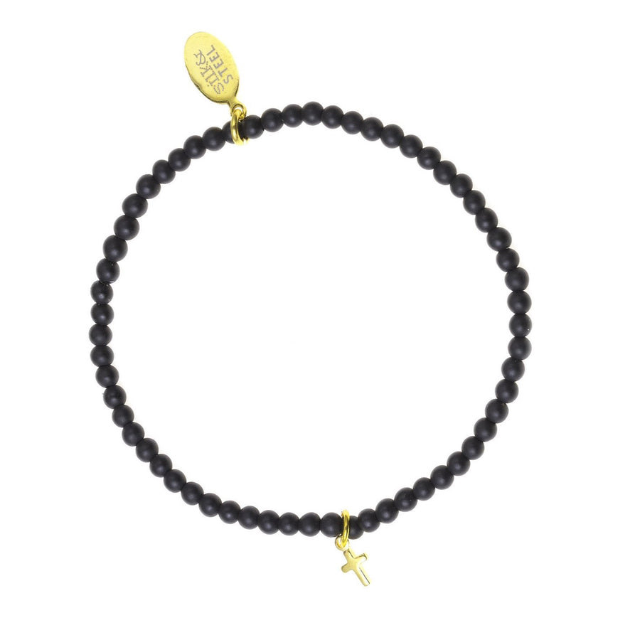Peace of Mind / Black Onyx + Gold / Bracelet