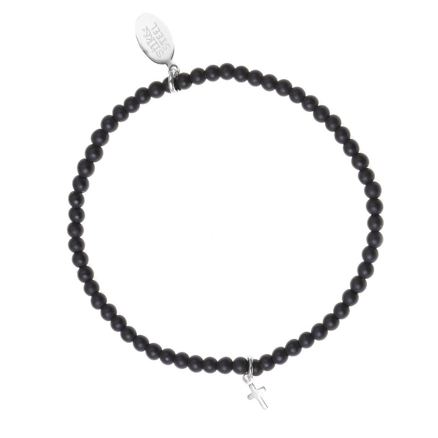 Peace of Mind / Black Onyx + Silver / Bracelet