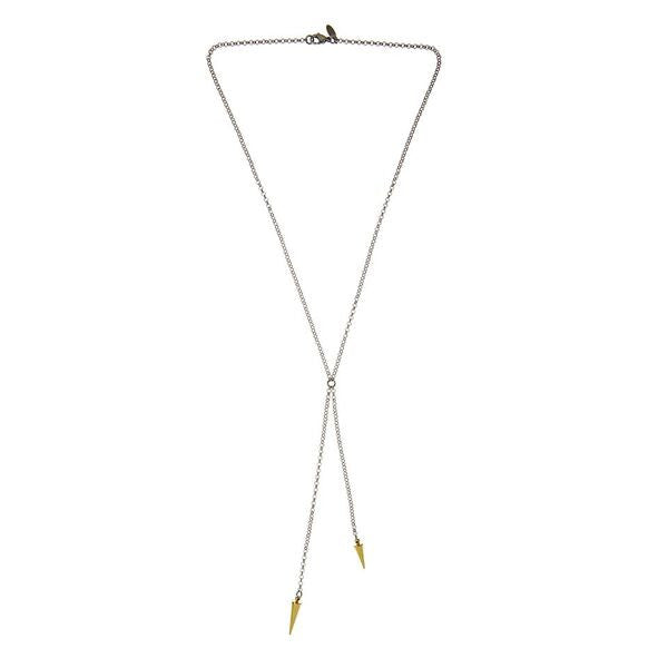 Silk & Steel Pendulum of Love Necklace - Gold