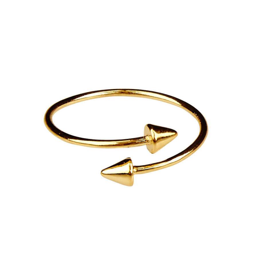 Silk & Steel Stealing Beauty Gold Plated Sterling Silver Ring
