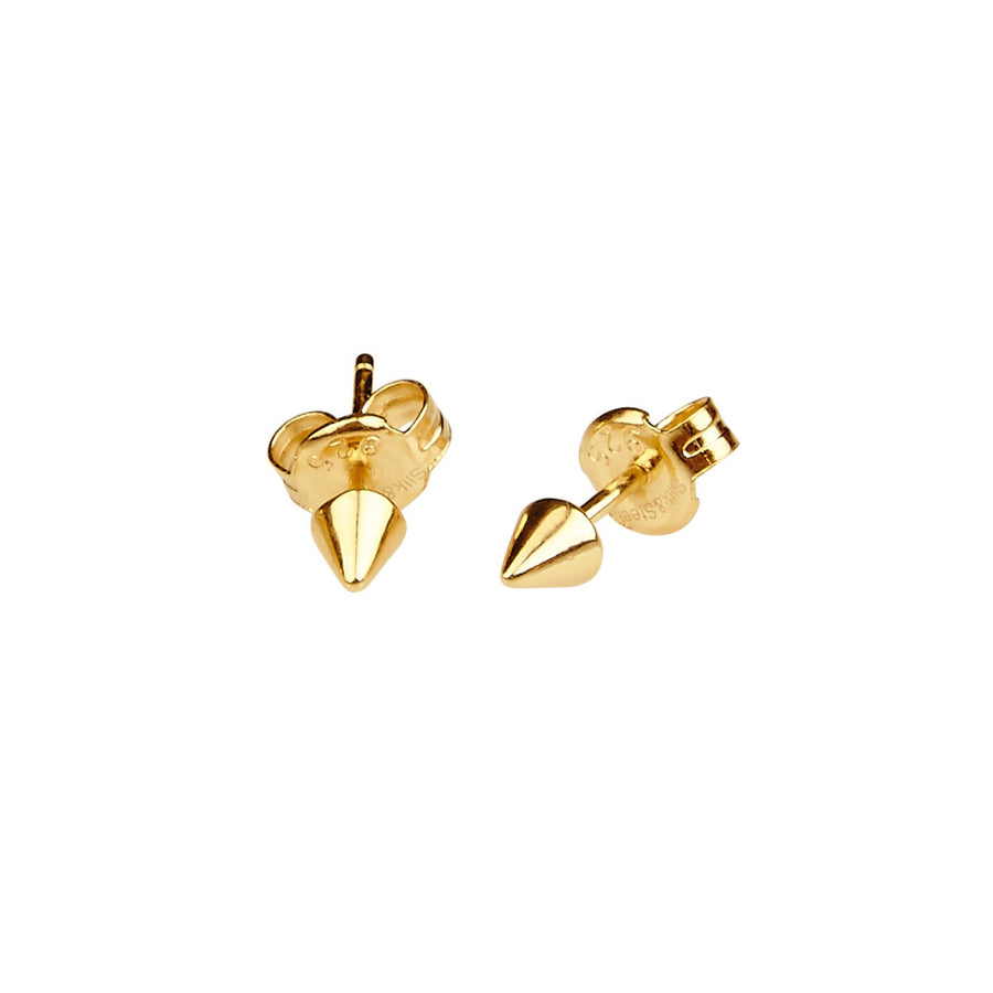 Silk & Steel Stealing Beauty Gold Plated Sterling Silver Earrings