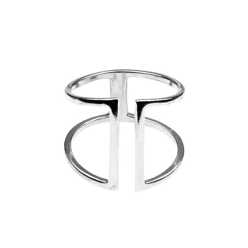 Silk & Steel Trapped Sterling Silver Ring