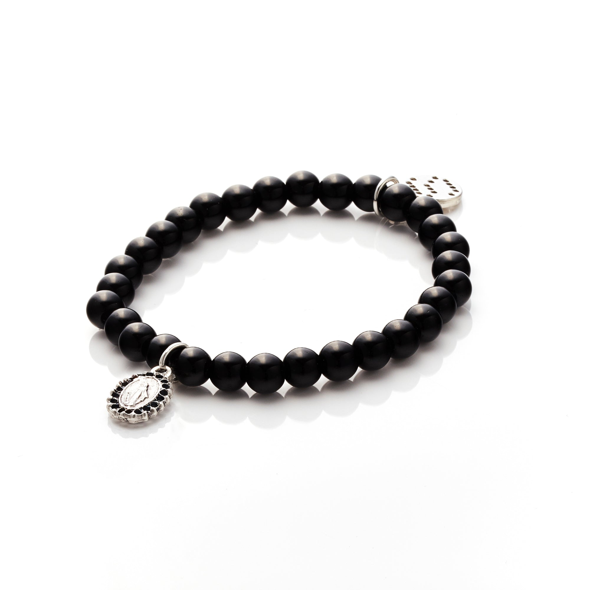 Silk&Steel Jewellery Affirmation Onyx + Silver Bracelet - Faithful