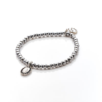 Silk&Steel Jewellery Affirmation Silver Bracelet - Faithful