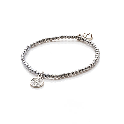 Silk&Steel Jewellery Silver Miraculous Bracelet - Faithful