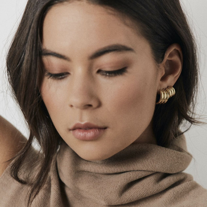 Silk & Steel Jewellery Ella Hoops Silver Small