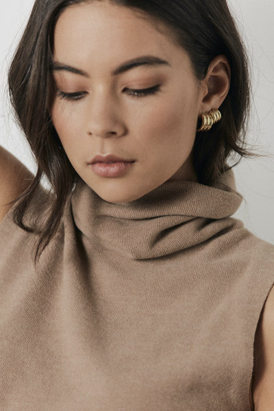 Silk & Steel Jewellery Ella Hoop Gold Large