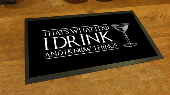 Game of Thrones Inspired Everything/'s better with wine in the belly bar mat