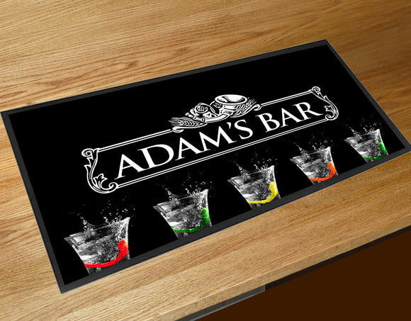 Personalised with your name Las Vegas Mojito Cocktail  bar runner home bar