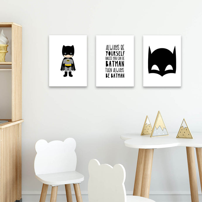 Set 3 Cuadros Canvas Be Batman