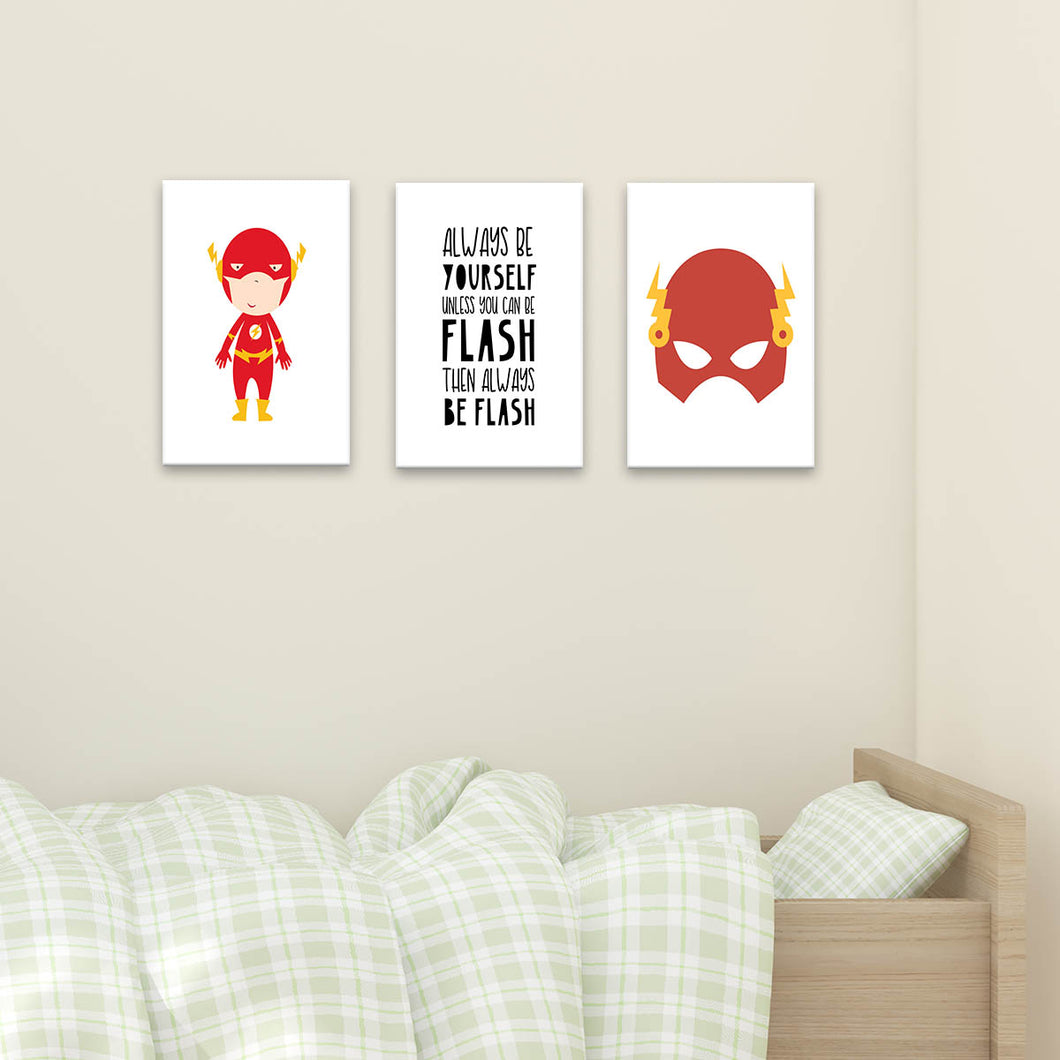 Set 3 Cuadros Canvas Be Flash