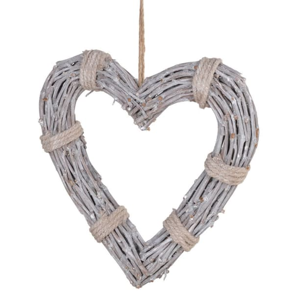 Yarn Tied Willow Hanging Heart