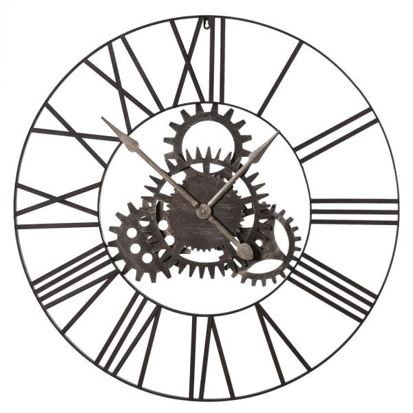Large Metal Cogs Clock