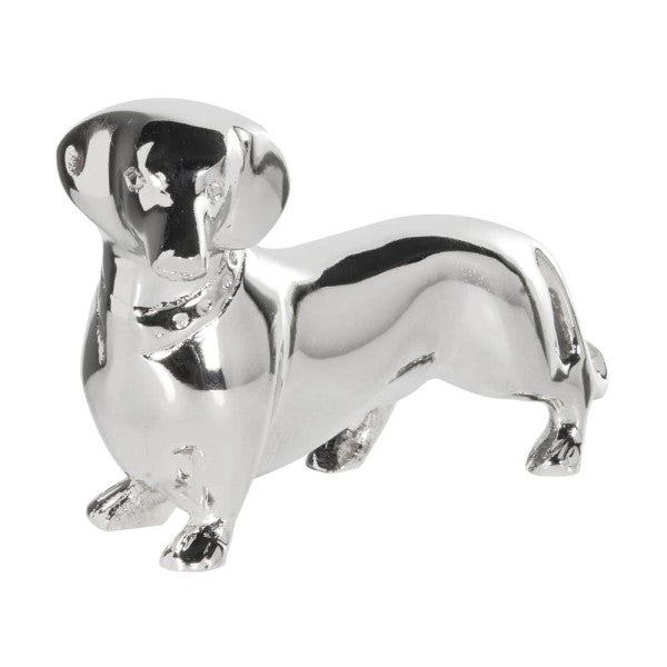 Silver Dachshund Dog Ornament