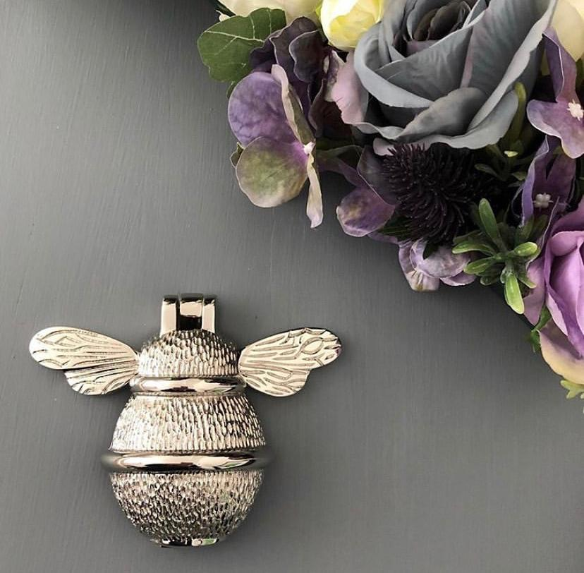 Brass Bumble Bee Door Knocker - Nickle & Chrome Finish