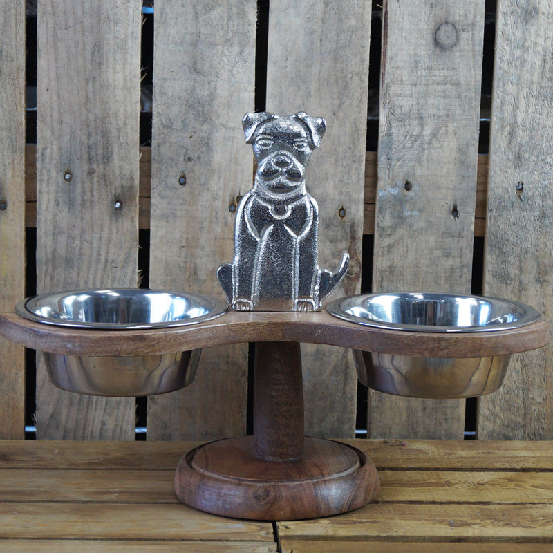 Dual Feeding Dog Bowl