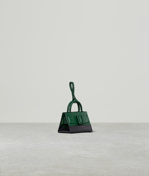 BOBBY CHARM WITH STRAP TWO-TONE BOTTLE GREEN / BLACK